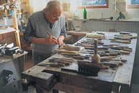 All wood-carvings are handmade by master-carvers in the Black Forest.